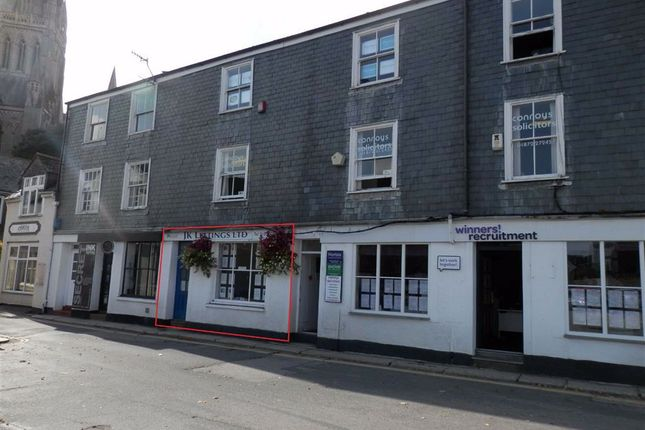 Thumbnail Retail premises to let in Ground Floor Office, 7, Old Bridge Street, Truro, Cornwall