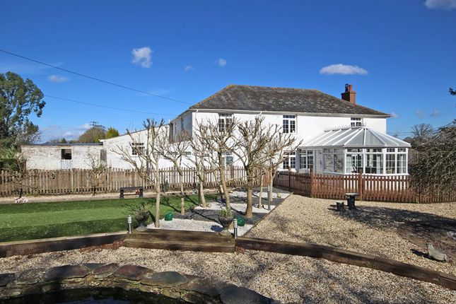 Thumbnail Farmhouse for sale in Sway Road, Tiptoe, Lymington