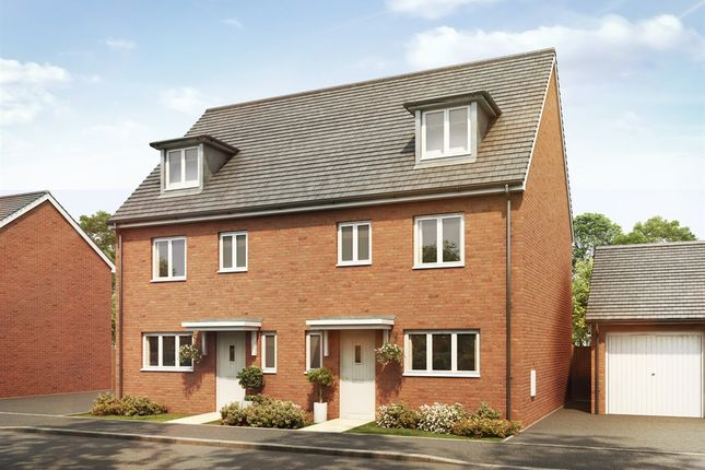 "Thumbnail Town house for sale in ""The Leicester"" at Goshawk Green, Leighton Buzzard"