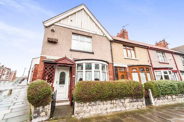 Thumbnail End terrace house for sale in Colwyn Road, Hartlepool