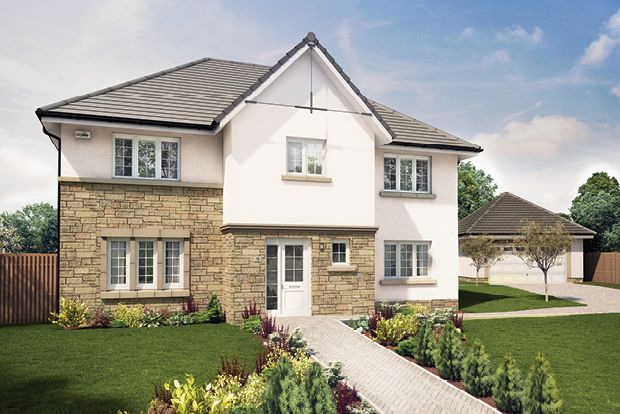 "Thumbnail Detached house for sale in ""The Elliot"" at Wilkieston Road, Ratho, Newbridge"