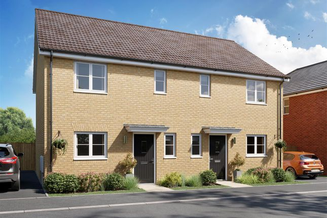 Thumbnail Semi-detached house for sale in Grafton Drive, Highfields Caldecote, Cambridge