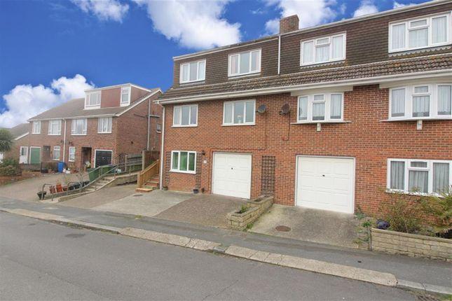 Thumbnail Semi-detached house for sale in Valebrook Close, Folkestone, Kent