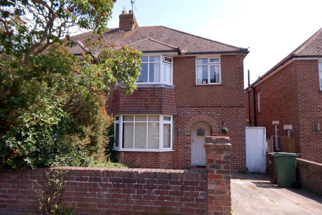 Thumbnail Semi-detached house to rent in Sancroft Road, Eastbourne