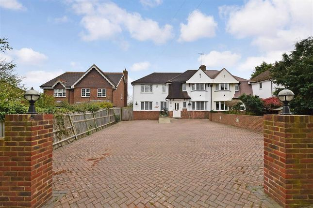 Thumbnail Semi-detached house for sale in Hubbards Lane, Boughton Monchelsea, Maidstone, Kent