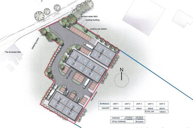 Thumbnail Land for sale in The Old Cider Works, Bell Lane, Smarden, Ashford, Kent
