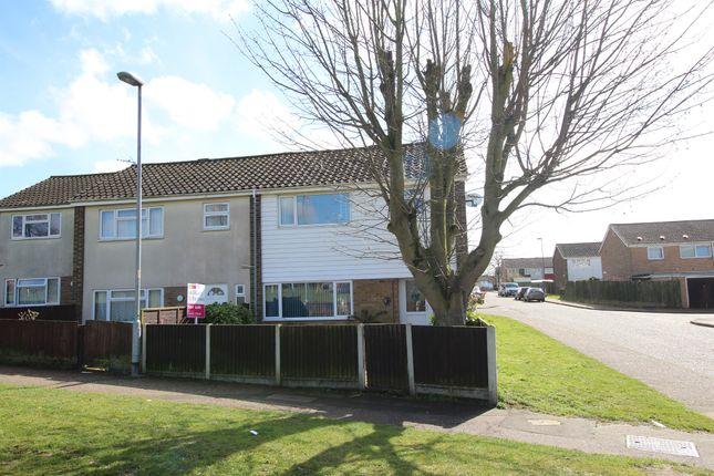 Thumbnail End terrace house for sale in Woodside, King's Lynn