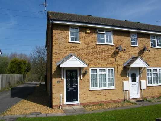 Thumbnail End terrace house to rent in Flamborough Close, Woodston, Peterborough