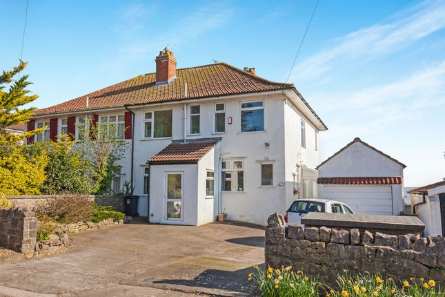 Thumbnail Semi-detached house for sale in The Ridgeway, Weston-Super-Mare