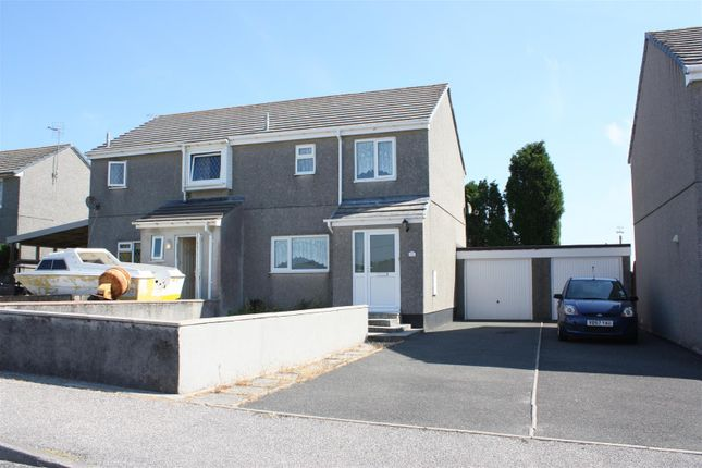 Semi-detached house to rent in Barton Road, Central Treviscoe, St. Austell