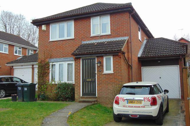 Thumbnail Detached house to rent in Kingfisher Close, Sevington, Ashford