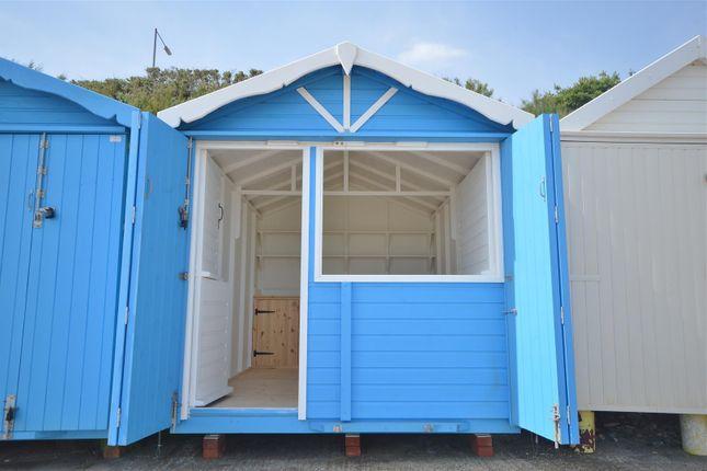 Beach Hut With Shutters Open