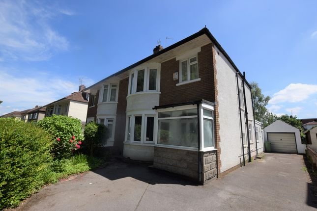 Thumbnail Semi-detached house to rent in King George V Drive East, Cardiff, Caerdydd