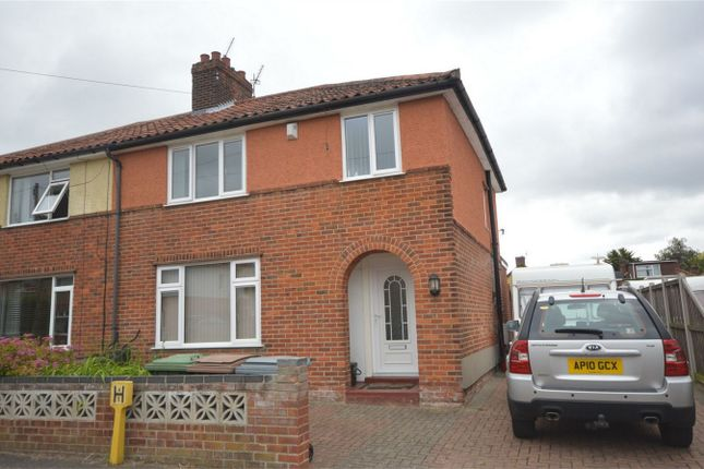 Thumbnail Semi-detached house for sale in Overbury Road, Norwich, Norfolk