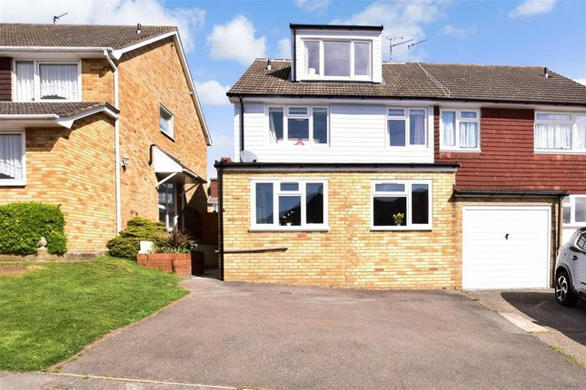 Thumbnail Semi-detached house for sale in Nine Acres Road, Cuxton, Rochester, Kent
