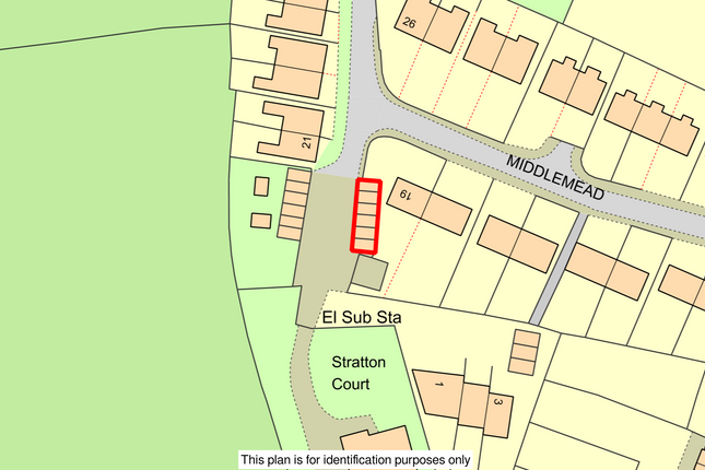 028.Png of Garages Adjacent To 19 Middlemead, Stratton-On-The-Fosse, Radstock, Avon BA3