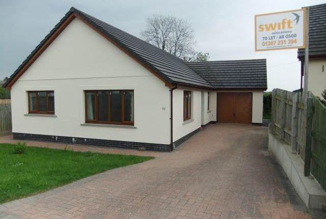 Thumbnail Bungalow to rent in Dol Y Dderwen, Llangain, Carmarthenshire