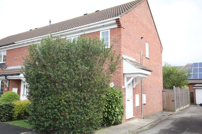 Thumbnail End terrace house to rent in Morland Way, St. Ives, Huntingdon