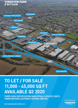 Thumbnail Warehouse to let in Eastways, Witham