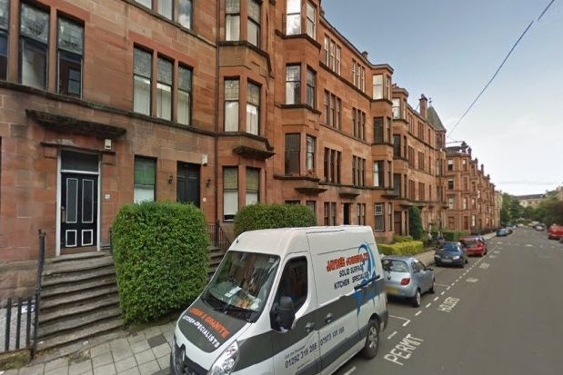 Thumbnail Flat to rent in Kersland Street, Glasgow