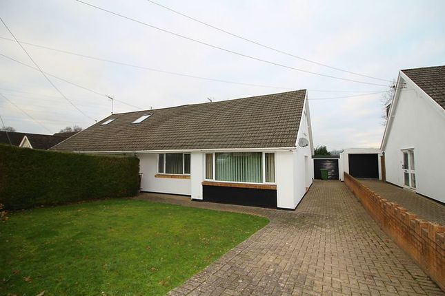 Thumbnail Semi-detached bungalow for sale in Heol Dowlais, Efail Isaf Pontypridd
