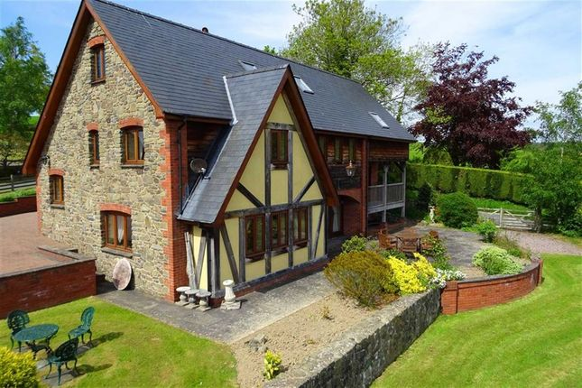 Thumbnail Detached house for sale in Llwyn Derw, Tregynon, Newtown, Powys
