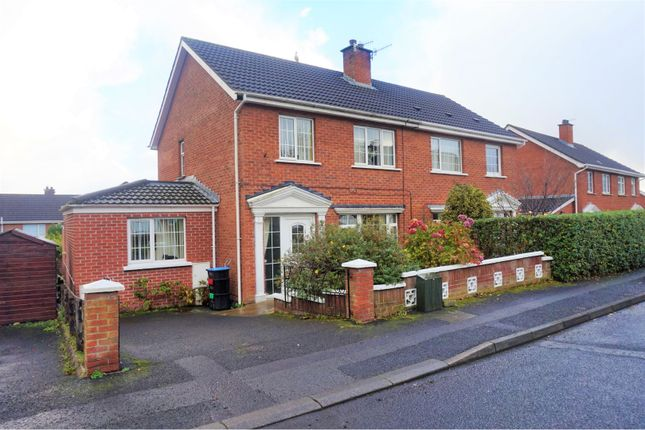 Thumbnail Semi-detached house for sale in Hillcrest Crescent, Newtownabbey