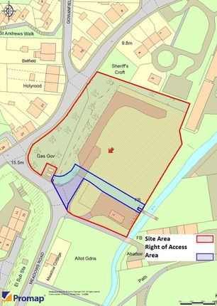 Thumbnail Land for sale in Development Site, Barone Road/Meadows Road, Rothesay, Isle Of Bute