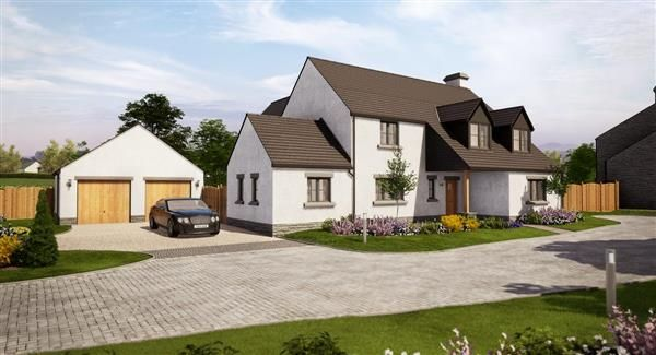Thumbnail Detached house for sale in The Ogmore, Priory Gardens, Abbey Road, Ewenny, The Vale