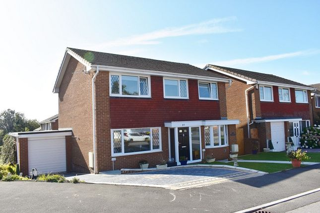 Thumbnail Detached house for sale in The Willows, Brackla, Bridgend .