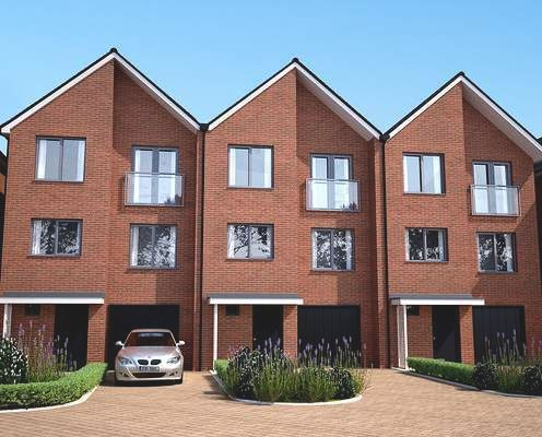 Thumbnail Town house for sale in Springhead Road, Northfleet, Kent