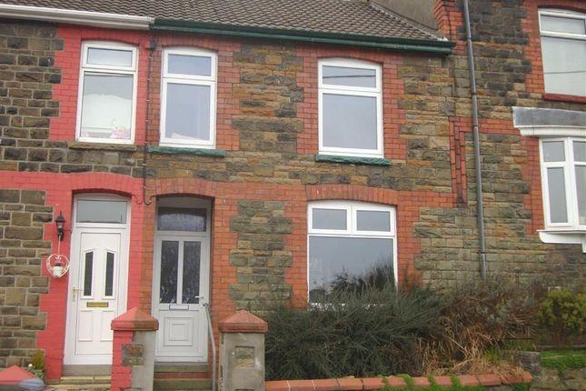 Thumbnail Terraced house to rent in Gellideg Road, Maesycoed, Pontypridd