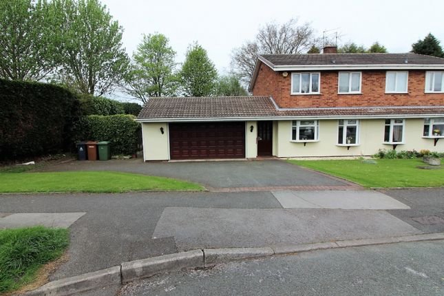 Thumbnail Semi-detached house for sale in Delamere Road, Willenhall