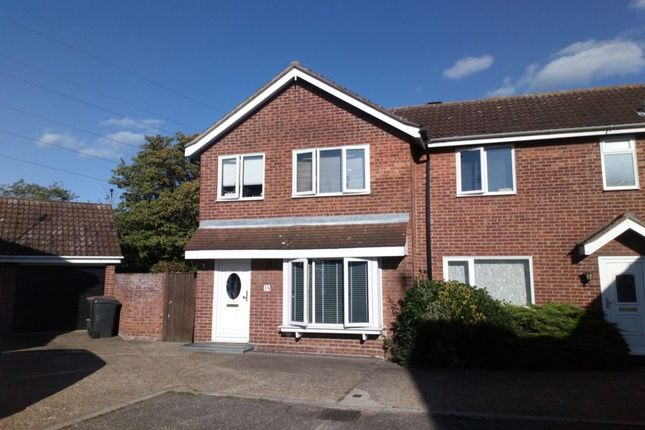 Thumbnail Semi-detached house for sale in Hawkwood Close, South Woodham Ferrers, Chelmsford