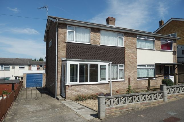 Thumbnail Semi-detached house for sale in Fallowfield Close, Harwich