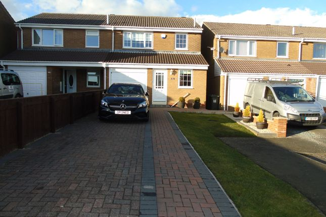 Thumbnail Semi-detached house for sale in Coverdale, Wallsend