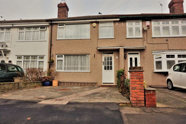 Thumbnail Terraced house for sale in Woodcote Avenue, Hornchurch