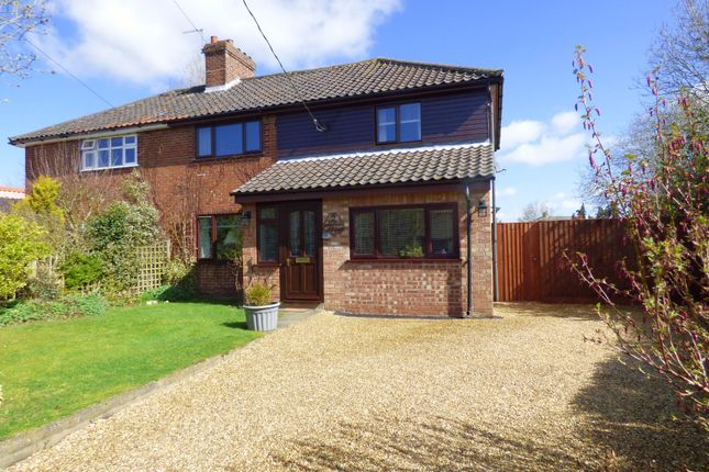 Thumbnail Semi-detached house for sale in Church Road, Wacton, Norwich