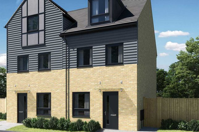 """Thumbnail Town house for sale in """"The Wyatt"""" at Thorn Road, Houghton Regis, Dunstable"""