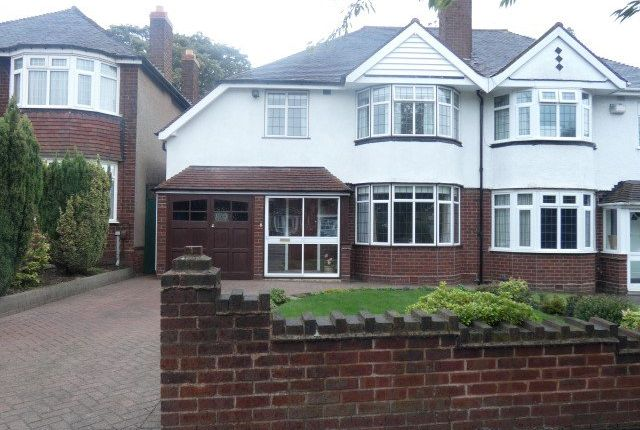 Thumbnail Semi-detached house for sale in Greenside Road, Erdington, Birmingham