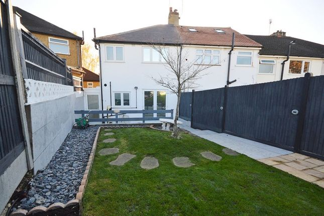 Garden of Chantry Road, Chessington, Surrey. KT9