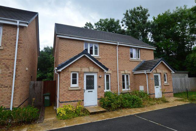 Thumbnail Semi-detached house for sale in Heol Miaren, Llanharry, Pontyclun
