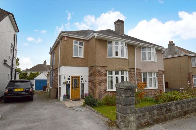 Thumbnail Semi-detached house for sale in Cresthill Road, Plymouth, Devon