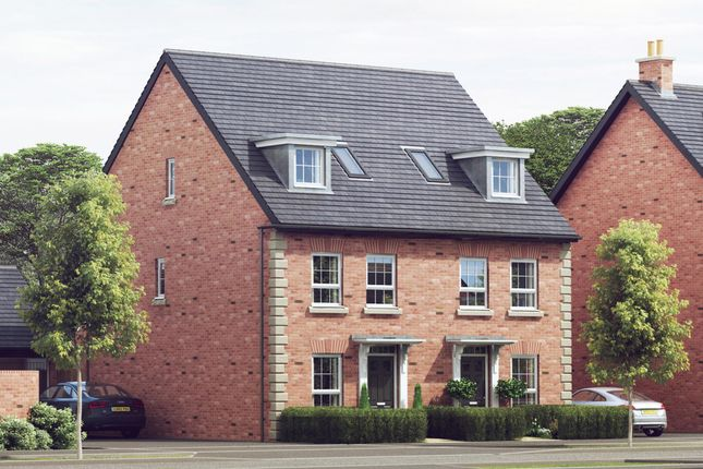 "Thumbnail Semi-detached house for sale in ""Rochester"" at Harbury Lane, Heathcote, Warwick"