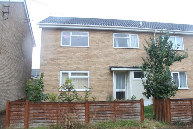 Thumbnail End terrace house for sale in Hawthorns, King's Lynn