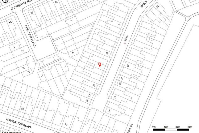 Site Plan of Brien Avenue, Altrincham WA14