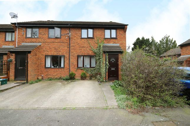 Thumbnail End terrace house for sale in Oregon Close, New Malden