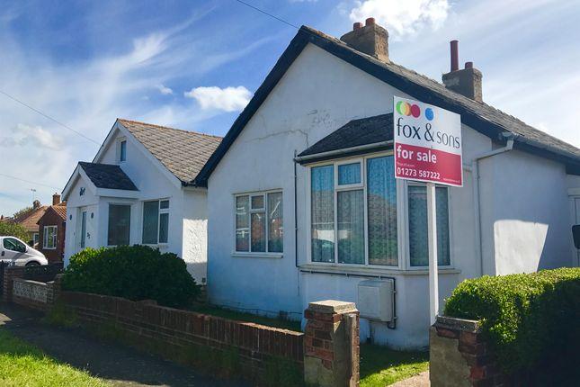 Thumbnail Detached bungalow for sale in Slindon Avenue, Peacehaven