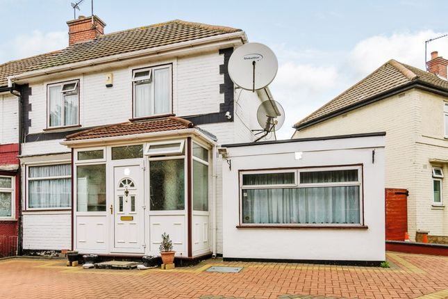 Thumbnail Semi-detached house for sale in Queensbury Road, Wembley, London