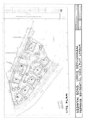 Site Plan of Ardwyn Road, Upper Brynamman, Ammanford SA18